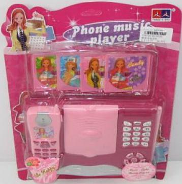 Интерактивная игрушка Shantou Gepai Телефон музыкальный от 3 лет розовый 62579