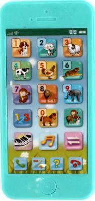 Интерактивная игрушка Shantou Gepai Телефон обучающий Животные от 3 лет зелёный