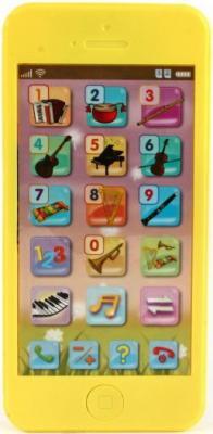 """Интерактивная игрушка Shantou Gepai Телефон обучающий """"Музыкальные инструменты"""" от 3 лет жёлтый  82032-3RE"""