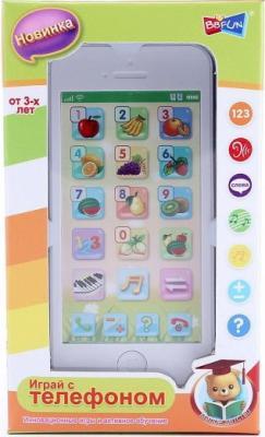 Интерактивная игрушка Shantou Gepai Телефон обучающий Фрукты от 3 лет белый  82032-4RE интерактивная игрушка shantou gepai динозавр от 3 лет бежевый rs6125
