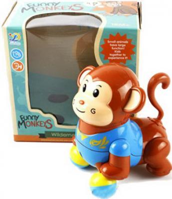 Интерактивная игрушка Shantou Gepai Обезьянка танцующая, муз., кор., батар.не вх в комплект от 18 месяцев коричневый