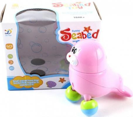 Интерактивная игрушка Shantou Gepai Морской котик танцующий, муз., кор., батар.не вх в компл. от 3 лет розовый 8824