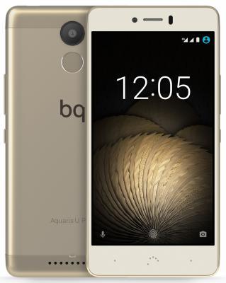 Смартфон BQ Aquaris U Plus золотистый 5 16 Гб LTE Wi-Fi GPS 3G C000235 смартфон zte blade a510 серый 5 8 гб lte wi fi gps 3g
