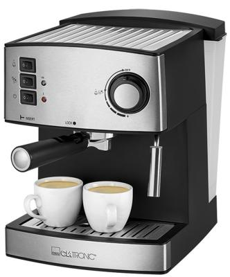 Кофемашина Clatronic ES 3643 серебристый/черный