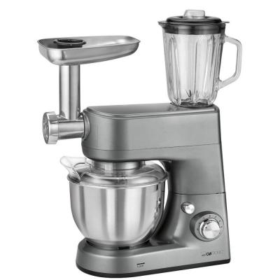Кухонный комбайн Clatronic KM 3648 серебристый кухонный комбайн kenwood fdm 100 ba 500вт 0 5л серебристый