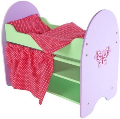 Кроватка для кукол Mary Poppins Бабочка с полками 67119