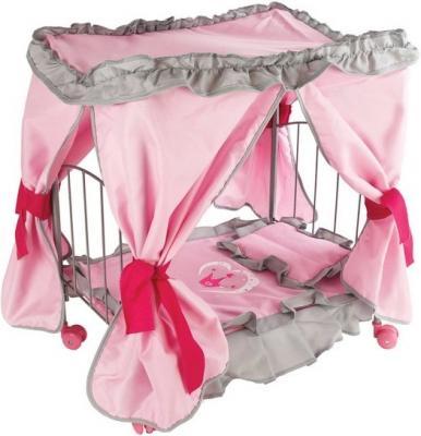Купить Кроватка для кукол Mary Poppins с балдахином Корона 67215, Аксессуары для кукол