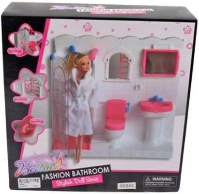 Набор Shantou Gepai Ванная комната с куклой 66844