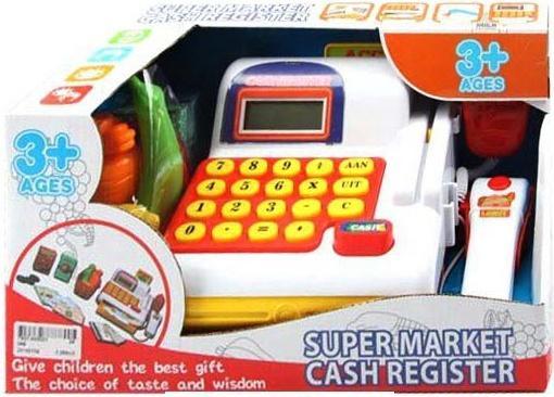 Касса Shantou Gepai Супермаркет с набором продуктов и сканером 66
