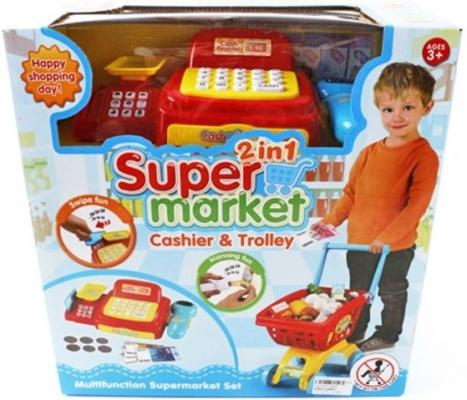 Игровой набор Shantou Gepai Супермаркет - касса, тележка, набор продуктов