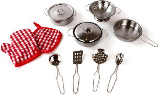 Набор посуды Shantou Gepai в рюкзаке 11 предметов металлическая