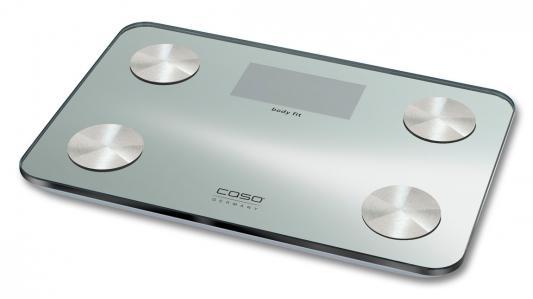 Весы напольные CASO Body Fit серебристый 3410 весы напольные caso body energy
