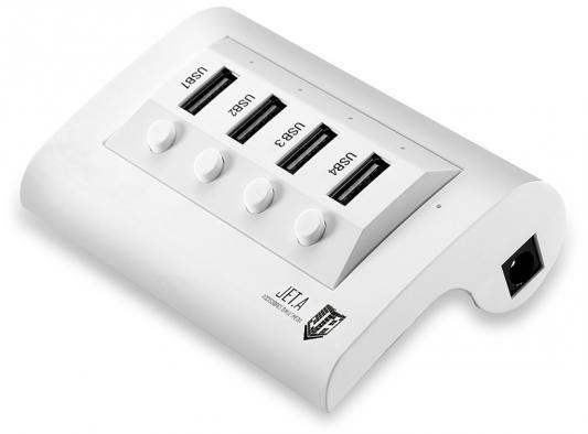 Концентратор USB 2.0 Jet.A JA-UH14 4 x USB 2.0 белый