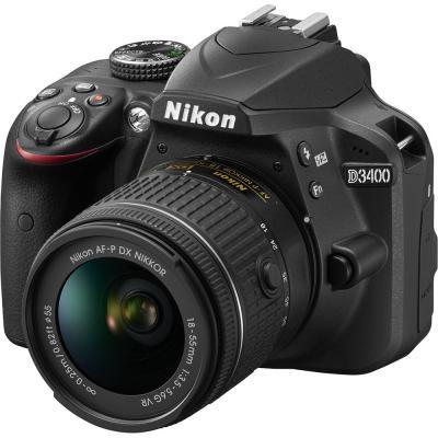 Зеркальная фотокамера Nikon D3400 KIT 18-55mm 24.2Mp черный VBA490K001