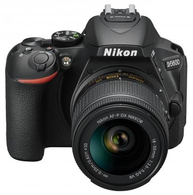 Зеркальная фотокамера Nikon D5600 KIT 18-55mm 24.1Mp черный VBA500K001