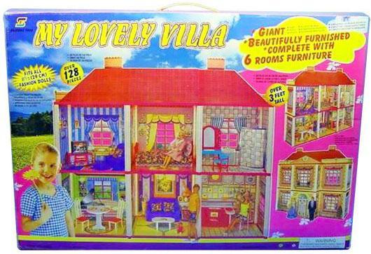Купить Дом для кукол Shantou Gepai My lovely Villa 128 предметов, Домики и аксессуары