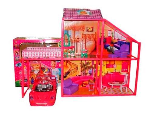 Купить Дом для кукол Shantou Gepai My Lovely Villa с машиной 6927070723827, для девочки, Домики и аксессуары