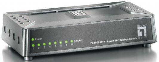 Коммутатор LevelOne FSW-0808TX управляемый 8 портов 10/100Mbps