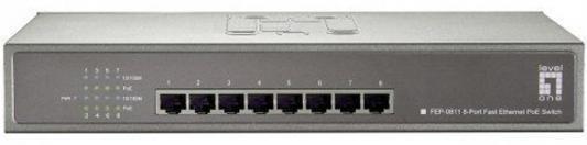 Коммутатор LevelOne FEP-0811 неуправляемый 8 портов 10/100Mbps адаптер poe levelone por 1100