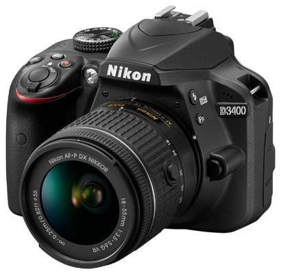 Зеркальная фотокамера Nikon D3400 KIT 18-105mm 24.7Mp черный VBA490K003
