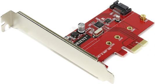 Контроллер PCI-E Orient A1061S-M2 SATA 3.0 2int 30289 контроллер pci e orient a1061s sata 3 0 2ext 2int