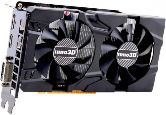 Видеокарта 2048Mb Inno3D GeForce GTX 1050 Twin X2 PCI-E 128bit GDDR5 DVI HDMI DP HDCP N1050-1DDV-E5CM Retail