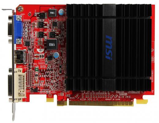 Видеокарта 1024Mb MSI R5 230 PCI-E GDDR3 64bit DVI HDMI VGA HDCP R5 230 1GD3H LP Retail