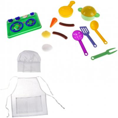 Купить Игровой набор Игрушкин Маленький повар 15 предметов 22147, для девочки, Юный кулинар