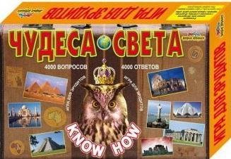 Настольная игра ИгриКо развивающая Викторина Эрудит Чудеса Света 4607037669017