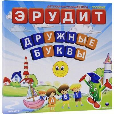 Настольная игра развивающая Биплант Эрудит Дружные буквы 10006