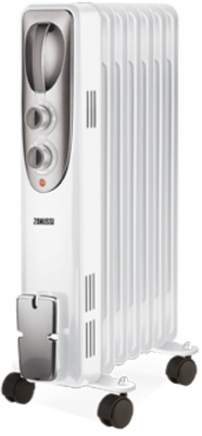 Масляный радиатор Zanussi Espressione ZOH/ES-07W 1500 Вт термостат ручка для переноски белый