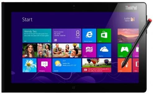 "Планшет Lenovo ThinkPad Tablet 10 10.1"" 64Gb черный Wi-Fi Bluetooth Windows 20E3003QRT"