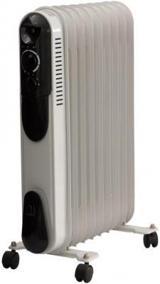 Масляный радиатор Saturn ST-OH 0426 2000 Вт термостат ручка для переноски белый чёрный ST-OH 0426