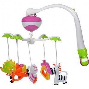 Подвеска музыкальная Жирафики Мобиль Зоопарк, 2 режима 624797