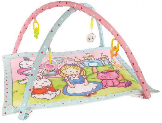 Купить Коврик Жирафики развивающий Алиса и волшебный замок с 4-мя развивающими игрушками, с шуршалкой и зеркальцем 939352, Развивающие коврики и дуги