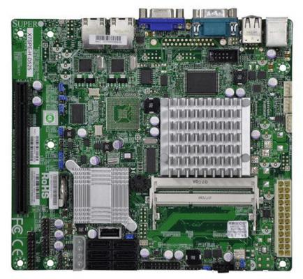 Мат. плата для ПК Supermicro MBD-X7SPA-H-D525-B с процессором Intel 2xDDR3 1xPCI-E 16x 6xSATA II Нестандартный