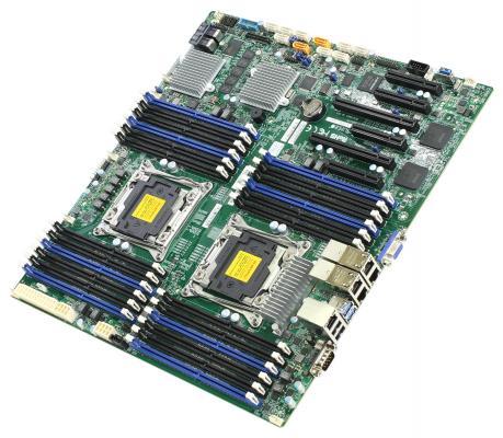 Мат. плата для ПК Supermicro MBD-X10DRI-LN4+-B 2 х Socket 2011-3 C612 24xDDR4 2xPCI-E 16x 1xPCI-E 4x 3xPCI-E 8x 10xSATAIII EATX