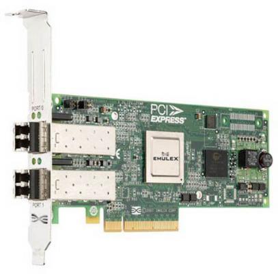 Адаптер Dell Emulex LPe12002 8Gb PCIe Low Profil Kit 406-10469 цена и фото