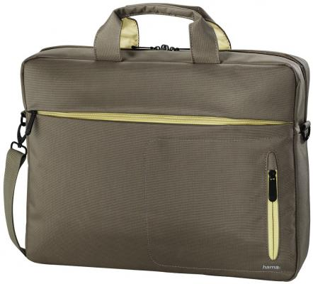 """Сумка для ноутбука 15.6"""" HAMA Marseille Style полиэстер синтетика коричневый желтый 00101283"""