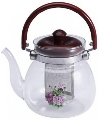 Чайник заварочный Wellberg WB-6852 бордовый 1.1 л стекло