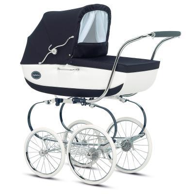 Коляска для новорожденного Inglesina Classica на шасси Balestrino ChromeBlue (AB05E0NAP + AE05H1000)
