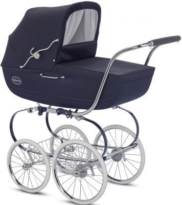 Коляска для новорожденного Inglesina Classica на шасси Balestrino ChromeBlue (AB05E0MAR + AE05E1000)