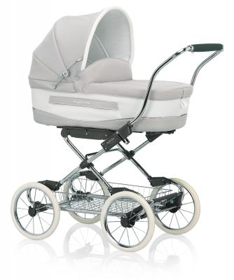 Коляска для новорожденного Inglesina Vittoria на шасси Comfort Chrome/Slate (AB10E6BTL + AE10E6100)
