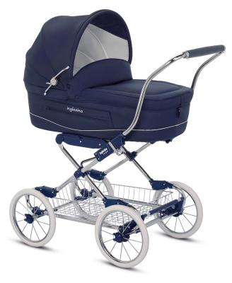 Коляска для новорожденного Inglesina Vittoria на шасси Comfort Chrome/Blue (AB10E1MAR + AE10G1000)