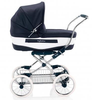 Коляска для новорожденного Inglesina Vittoria на шасси Comfort Chrome/Blue (AB10H1NAP + AE10G1000)