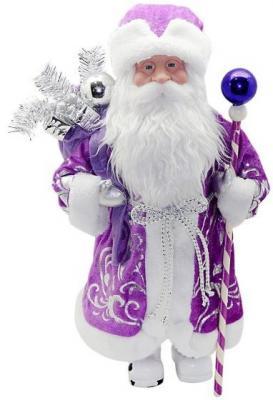 Кукла Новогодняя сказка Дед Мороз 43 см под елку, фиолетовый 972434
