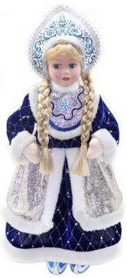 Кукла Новогодняя сказка Снегурочка синий 43 см 1 шт пластик, текстиль. мягкие игрушки новогодняя сказка кукла снегурочка 35 5 см красн бел