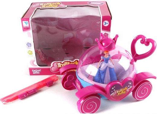 Каталка на палочке Shantou Gepai Карета розовый от 1 года пластик 6927713463134
