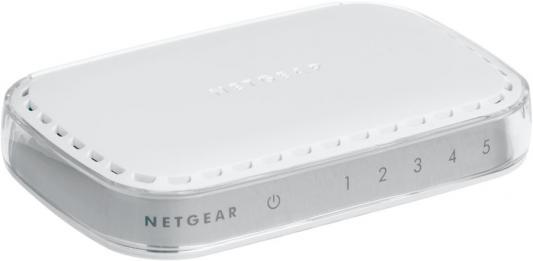 Коммутатор NETGEAR GS605-400PES неуправляемый 5 портов 10/100/1000Mbps