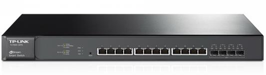 Фото - Коммутатор TP-Link T1700X-16TS управляемый 12 портов 100/1000/10GBase-T 4xSFP+ коммутатор tp link t1700x 16ts jetstream 12 портовый 10gbase t smart коммутатор с 4 слотами 10g sfp
